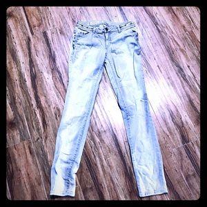 Mossimo Gray stretch skinny jeans rivet design 9